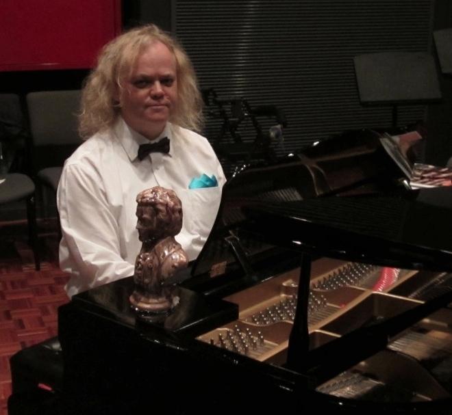 Margaret Jones, pianist at choir concert June 2012